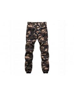 Męskie spodnie joggery moro...
